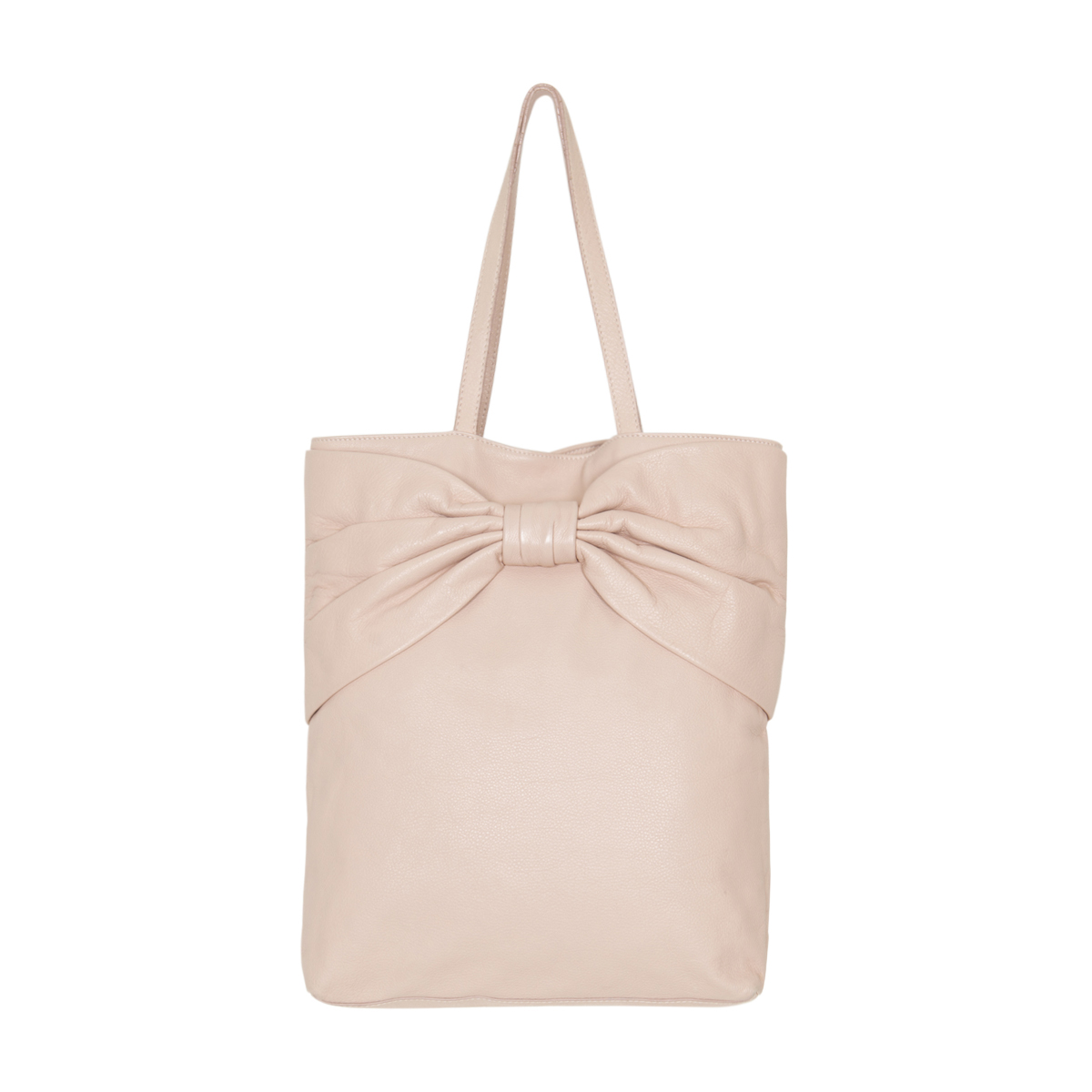 Red Valentino Leather Bow Tote Bag