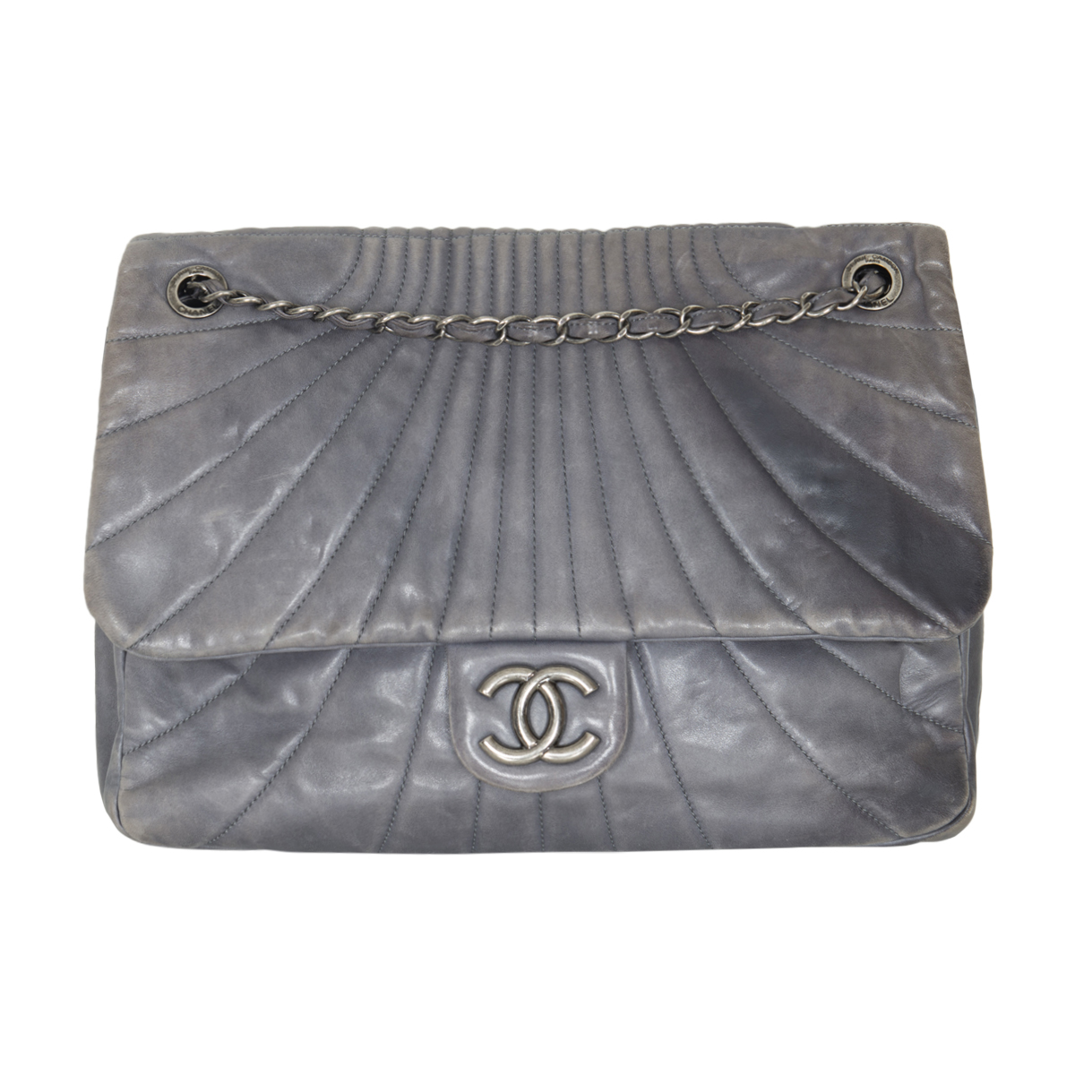 Chanel Quilted Calfskin Chain Flap Bag