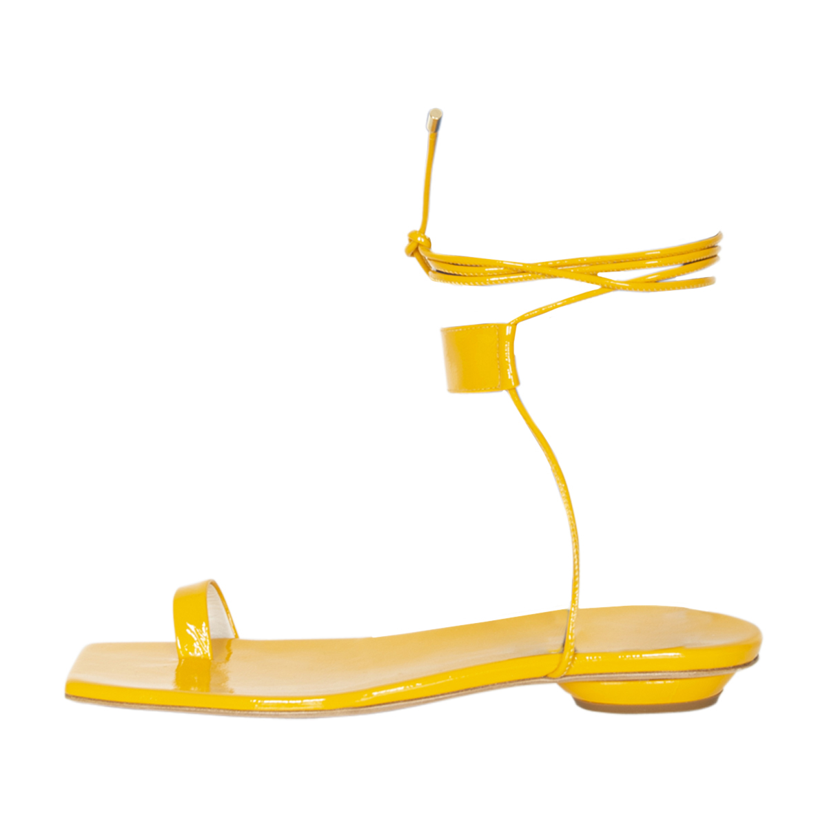 Tibi Shin Crinkle Patent Sandals – New Condition