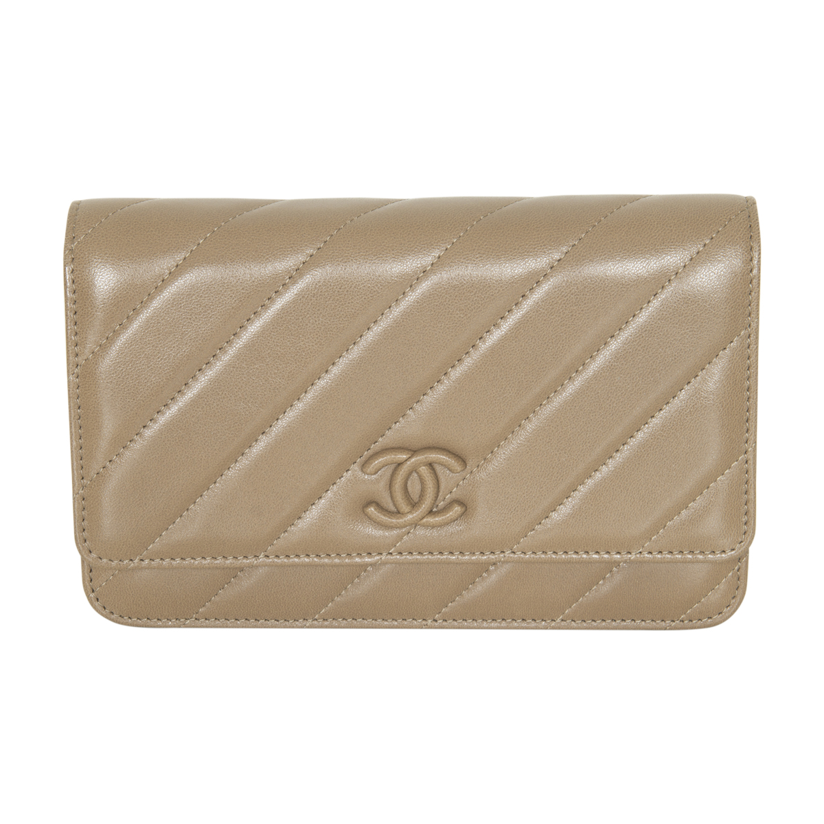 Chanel Leather Wallet On Chain – New Condition