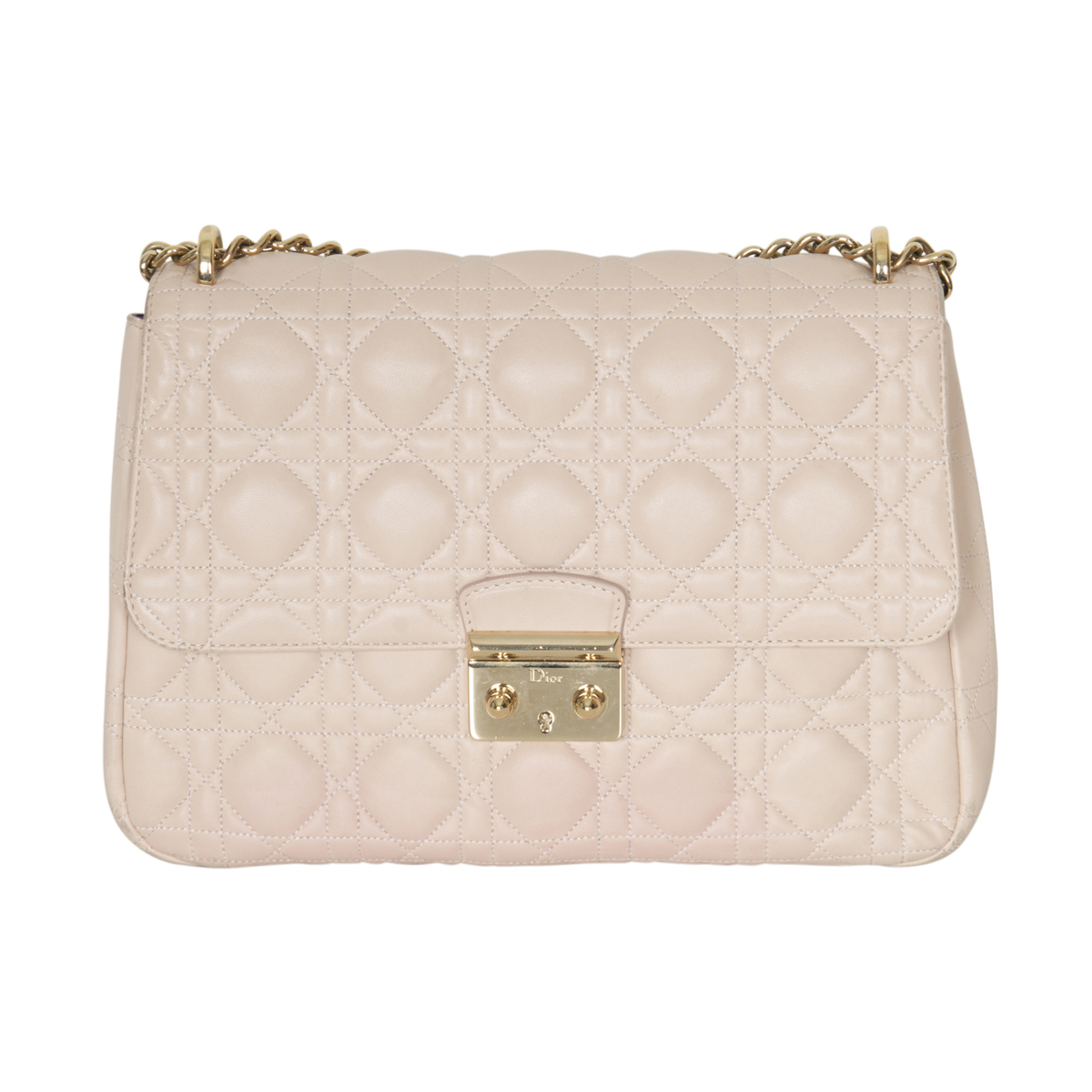 Dior Quilted Cannage Leather Handbag