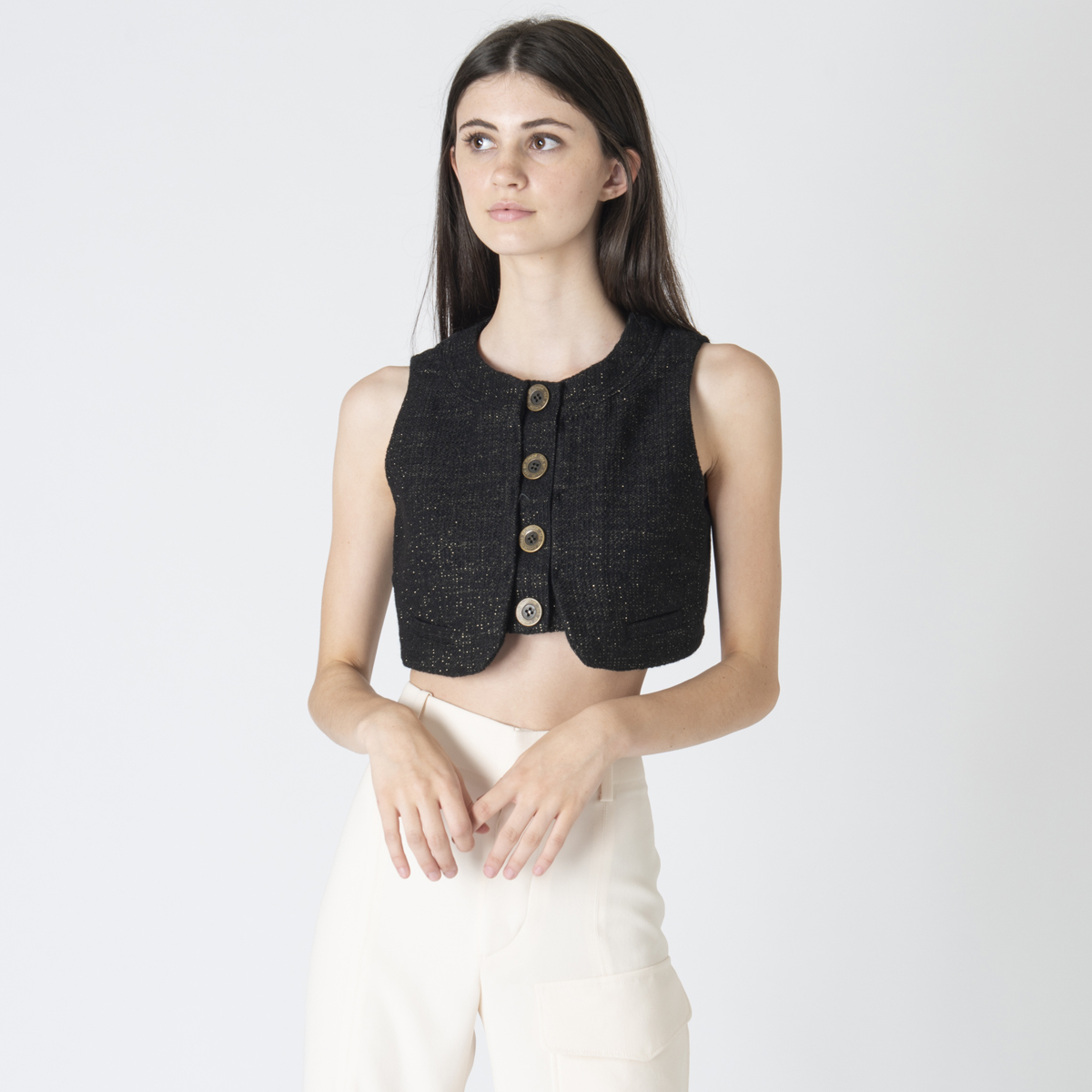 SEE by Chloé Cropped Vest