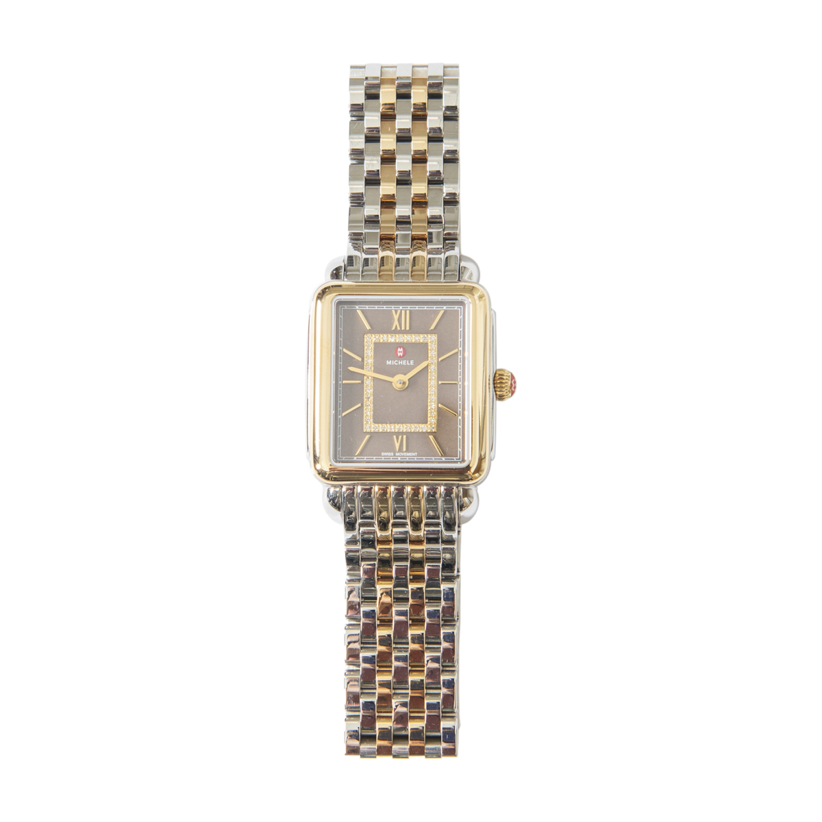 Michele Deco II Two-Tone Stainless Steel Watch
