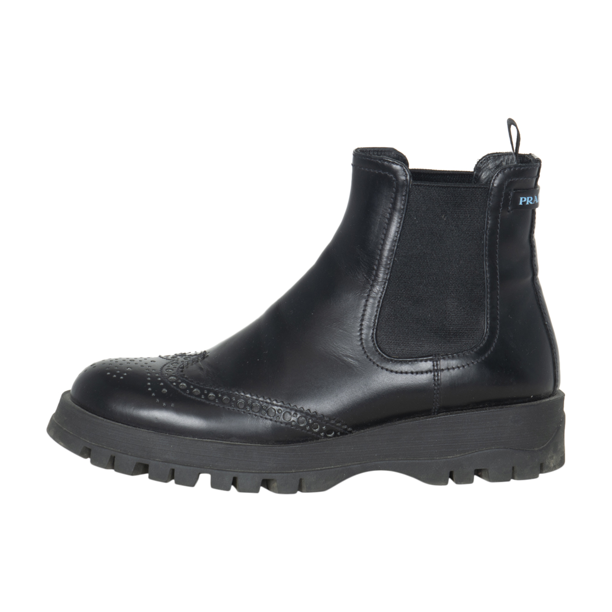 Prada Brogue Leather Ankle Boots