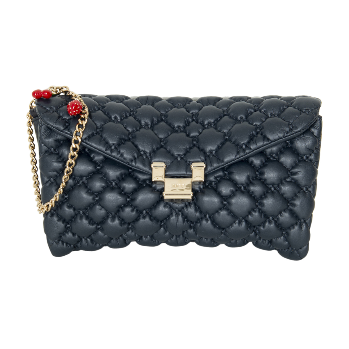 Red Valentino Quilted Leather Clutch