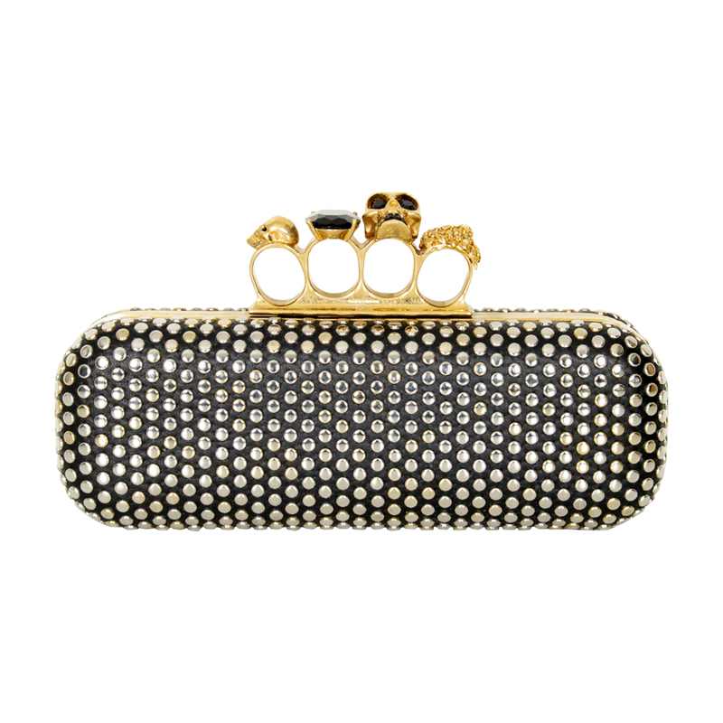 Alexander McQueen Studded Leather Knuckle Clutch
